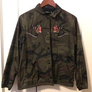 Obey Camouflage Print Jacket